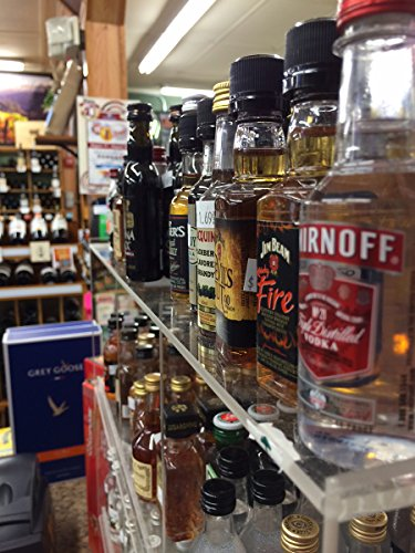 Commercial-Retail-Display-for-Mini-Sampler-50ml-Liquor-Shot-Airplane-Bottles-Nips-Also-Any-Other-Point-of-Sale-Items