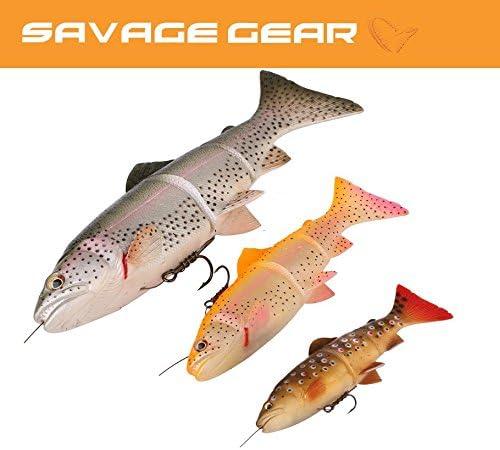 Savage Gear Kunstköder angeln 4D Line Thru Trout 15cm 40g MS Golden Albino