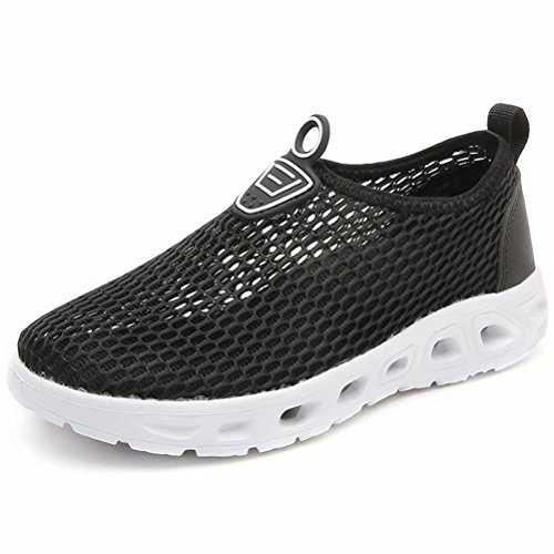 HOBIBEAR Boys Quick Dry Water Shoes Lightweight Slip-on Sneakers-Black from HOBIBEAR