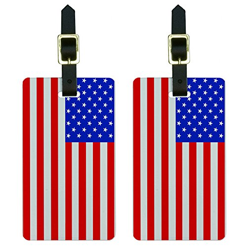 American Flag Luggage Suitcase Carry