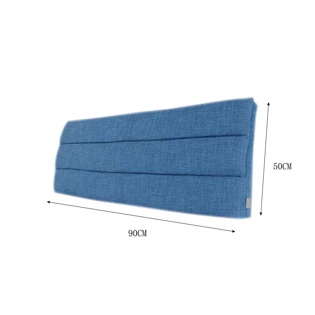 LQQGXL,Cushion, Cloth Bedside Cushion Solid Wood Bedside Cover Sets Bedside Soft Case Sponge Big Cushions Backrest Pad Cover Detachable Washable Back Cushion ( Color : B ) by LQQGXL (Image #2)