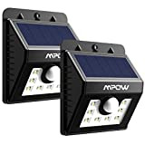 Mpow Solar Lights Outdoor, Bright Motion Sensor Security Wall Lights with 3 Modes, Wireless Waterproof Night Lights for Garage Driveway Front Door Garden Path Patio Deck Yard Lighting - 2 Pack