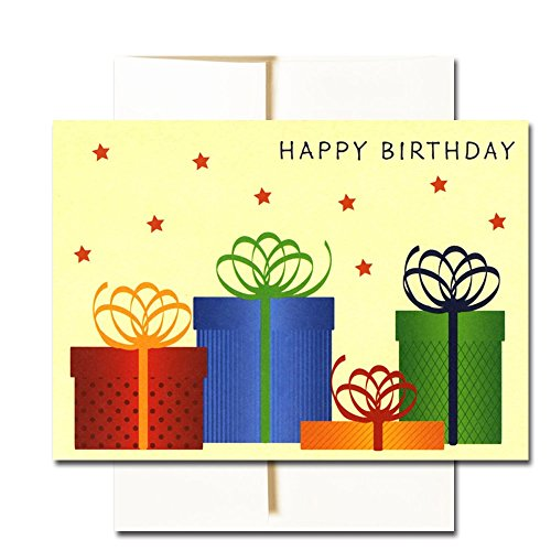 Happy Birthday Cards  Assortment - Box of 30 Blank Note Cards - 6 Colorful Designs - and 32 Envelopes Photo #3