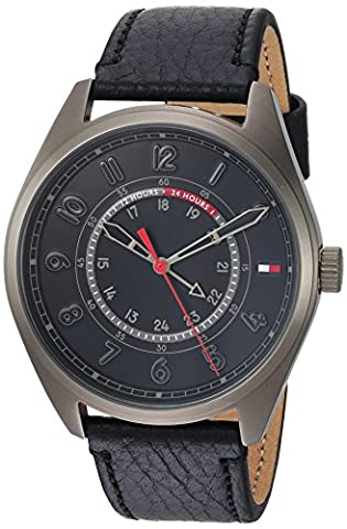 Tommy Hilfiger Men's 'Sport' Quartz Resin and Leather Casual Watch, Color:Black (Model: 1791374) (G Shock Gloss)