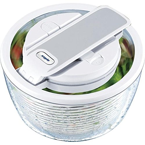 Zyliss Smart Touch Salad Spinner, Small, White