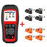 Autel MaxiTPMS TS601 TPMS Tool with 4 TPMS 315 Mhz Sensors and 4 TPMS 433 Mhz Sensors for Diagnosis and TPMS Sensor Reset Relearn Activate Programming