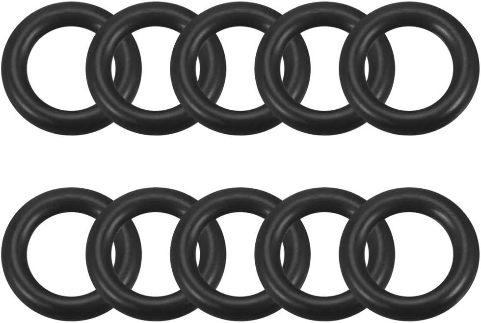 100 tapones de goma para extremos de 3,5 mm de identificaci/ón de vinilo color negro sourcing map