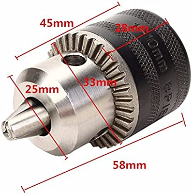 Yasorn 10mm Keyed Metal Drill Chuck Converter Quick Change Adapter For 4 inch Angle Grinder M10 Thread