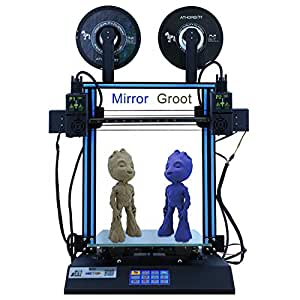 HICTOP 24V D3 Hero Independent Dual Extruder Direct Feed Idex 3D Printer with Touch Screen 300 * 300 * 350mm