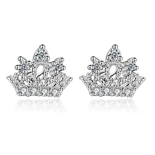 18g Stainless Steel Crown Cartilage helix Earrings Piercings Stud Sleeper Earrings 2 Pieces