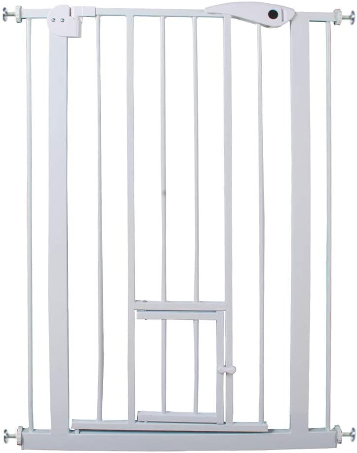 Strong Gate Suitable for Big Dogs 75-82cm Pressure Fit Pet Safety Gate Auto-Close with 2 Stage Safety Catch and Bottom Security Stop XhuangTech Extra Tall 104cm Baby Gate 75-82 cm