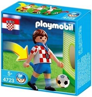 playmobil 4723 joueur de foot croatien avec fonction de tir au but