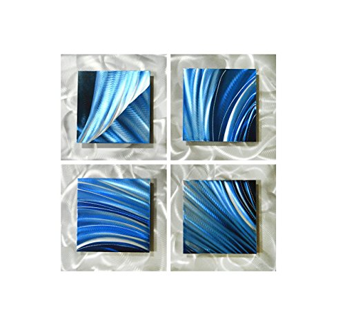 Pure Art Movement in Squares - Modern Metal Wall Art Decor - Hanging Sculpture of 25