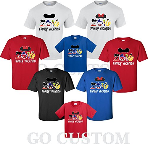 Disney Family Vacation 2016 T-Shirts Matching Cute Mickey T-Shirts (XX-Large Adult Minnie, (Disney Family T Shirts)