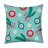 Pgojuni Fresh Style Pillowcase Merry Christmas Pillow Case Polyester Sofa Car Cushion Cover Home Decor Cover Pillow Case1pc (45cm X 45cm) (H)
