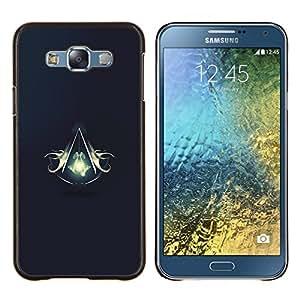 Qstar Arte & diseño plástico duro Fundas Cover Cubre Hard Case Cover para Samsung Galaxy E7 E700 (Asesinos Escudo)