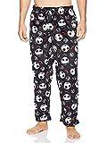 Nightmare Before Christmas Jack Skellington Men's Fleece Lounge Pajama Pants (Large, Black)