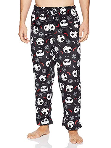 Nightmare Before Christmas Jack Skellington Men's Fleece Lounge Pajama Pants