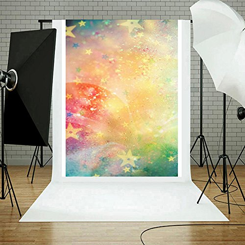 vmree Indoor Photographic Studio Backdrop, Dreamlike Halo Photo Shooting Background Props Wall Hanging Screen Post-Production Curtain Folding & Washable Art Cloth 3x5FT. (F) -