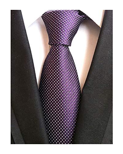 Mens Purple Extra Long Woven Silk Work Dress Ties Grenadine Fashion Fun Neckties