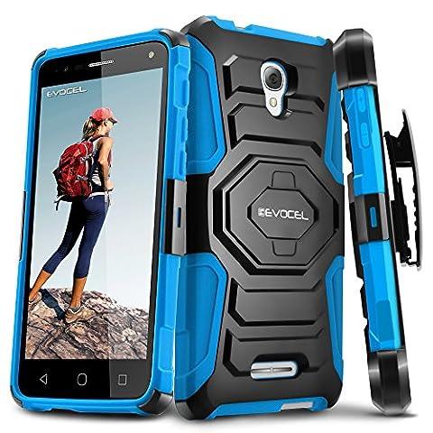 Evocel Alcatel OneTouch Fierce 4 [New Generation] Rugged Holster Dual Layer Case [Kickstand][Belt Swivel Clip] For Alcatel OneTouch Fierce 4 5056 (T-Mobile/MetroPCS), (Evocel Case Alcatel)
