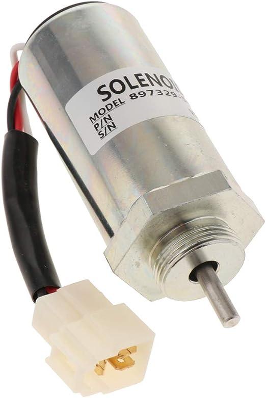 Homyl 04103808 Solenoide di Arresto di Carburante per Deutz F3L F3M F4L F4M 1011 2011 Stile 1 Argento