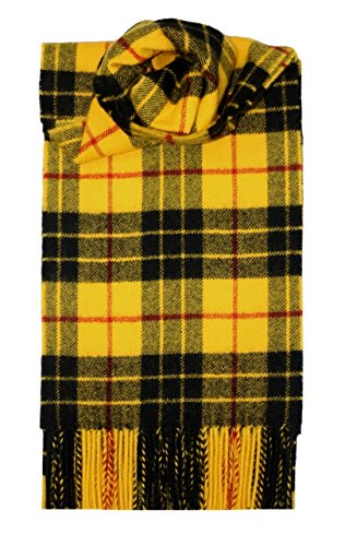 (MacLeod Dress Tartan Scarf Modern Lambswool)