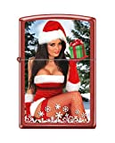 Christmas Zippo Lighters (Red Matte Sexy Christmas Girl)