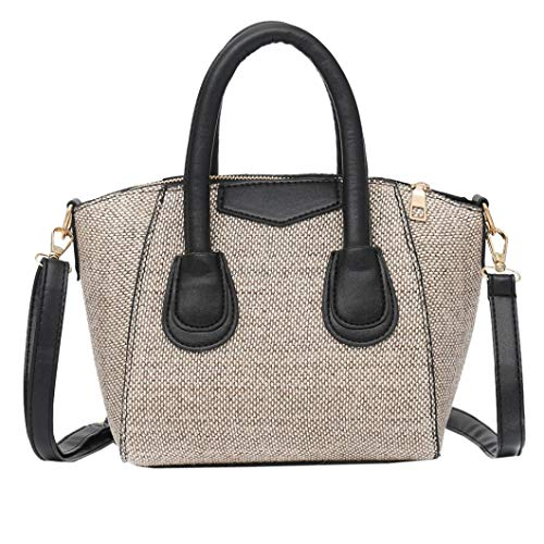 Daisy Canvas Football Vintage (Shoulder Bags for Women,iOPQO Vintage Linen Zipper Pure Shoulder Bag Handbag)