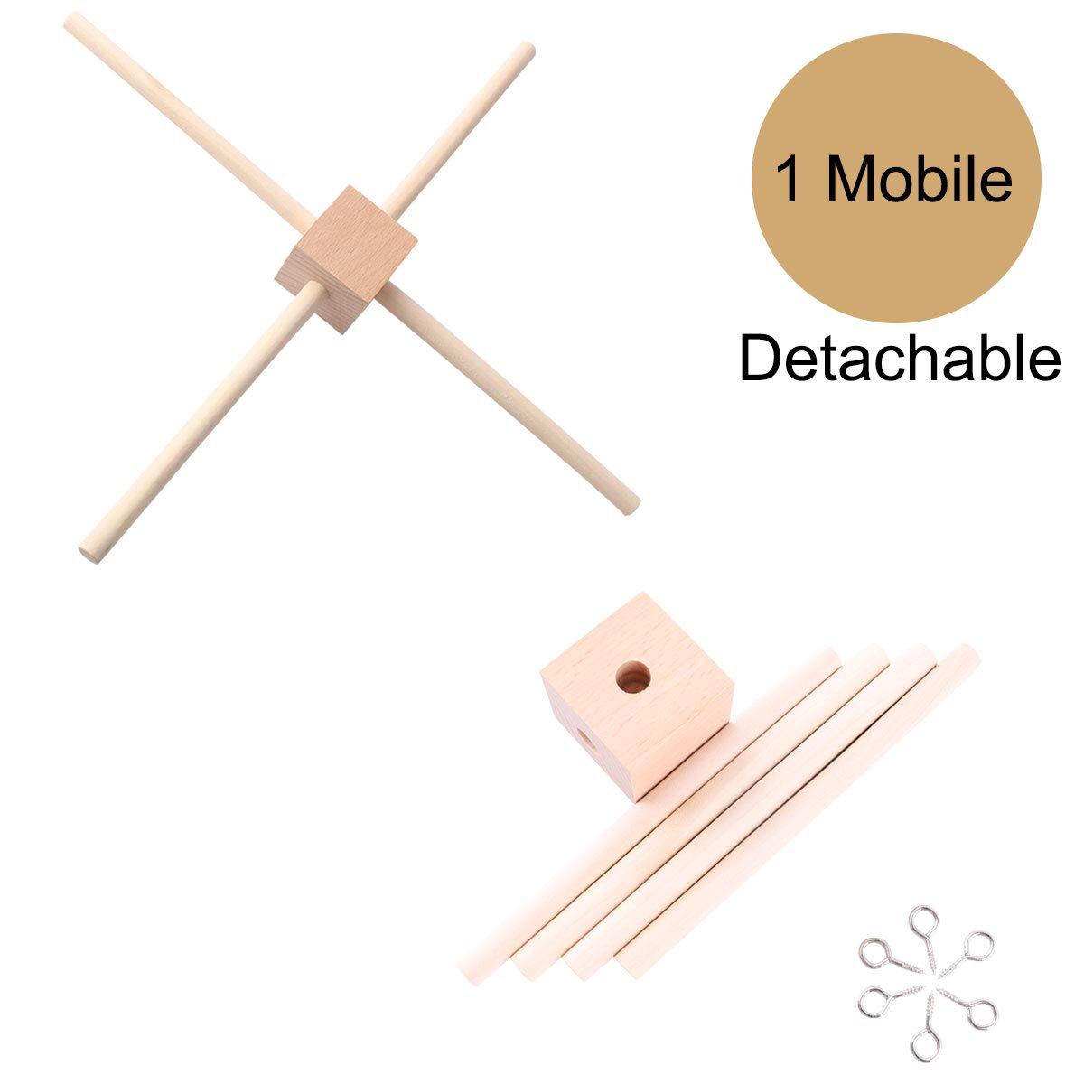 Amazon Com Baby Natural Wooden Mobile Hanger Mobile Kit