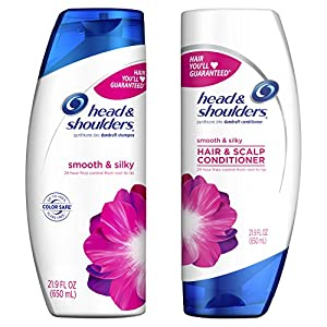 Head & Shoulders Smooth & Silky Dandruff Shampoo and Conditioner Bundle Pack
