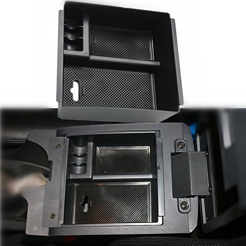 Oceson Center Console Armrest Insert Organizer ABS Black Tray Pallet Storage Box Container With USB Hole for Isuzu D-max Dmax 2012 2013 2014 2015 2016