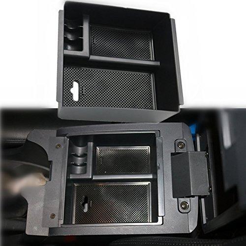 Oceson Center Console Armrest Insert Organizer ABS Black Tray Pallet Storage Box Container for Isuzu D-max Dmax(2012-2018), Isuzu MUX(2015-2017)