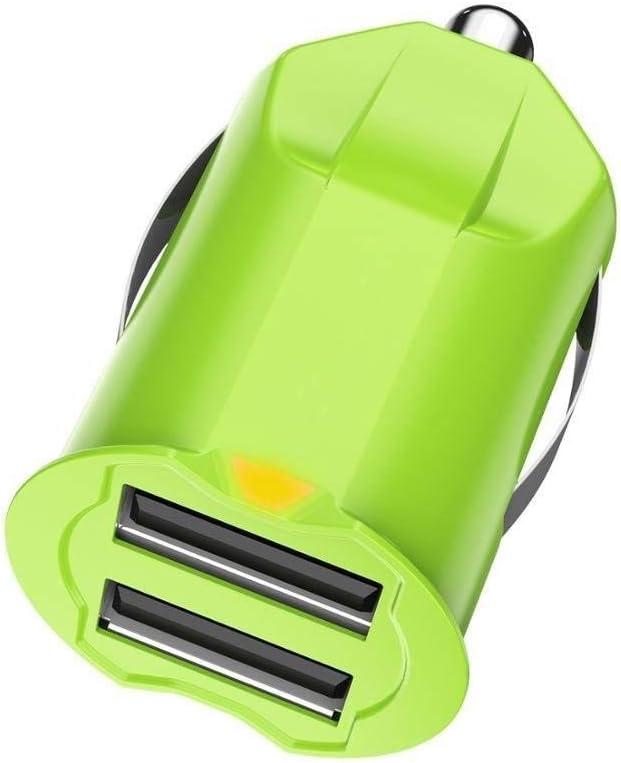 Carga rápida Cargador de coche, mini coche cargador de batería, 2 puertos USB adaptador de cargador de coche for el cargador del coche del teléfono Samsung QC3.0 carga rápida USB cargador de teléfono