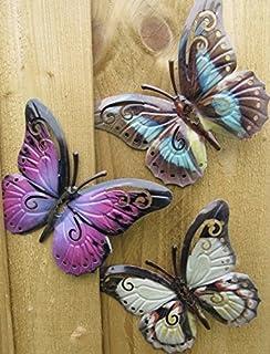 Garden Butterfly Garden Butterfly Wall Art (Choice Of 3)