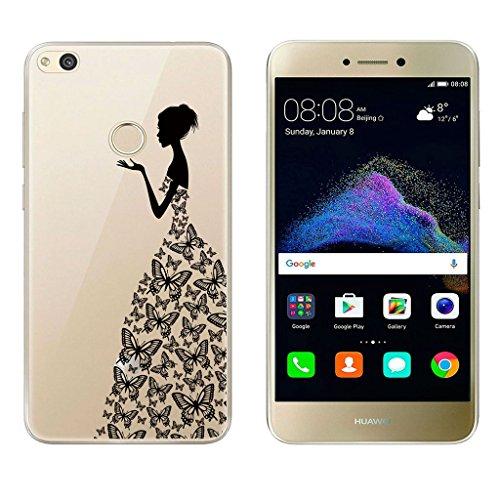 Huawei P8 Lite 2017 Funda , TUTUWEN Transparente Silicona TPU de Flexibilidad Carcasa Case Bumper Ultra Delgado Espalda Case Cover para Huawei P8 Lite ...
