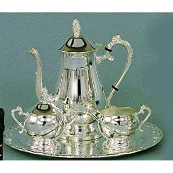 Elegance Silver 89801 Romantica Collection Silver Plated Coffee Set 4 Piece  sc 1 st  Amazon.com & Amazon.com: Elegance Silver 89801 Romantica Collection Silver Plated ...