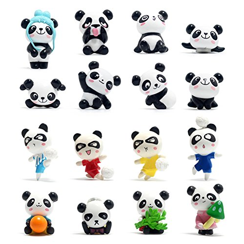 16 Packs of Animal Refrigerator Magnets for Kids Toddlers, Cute Panda Fridge Magnets for Whiteboard - Picture Frame Panda