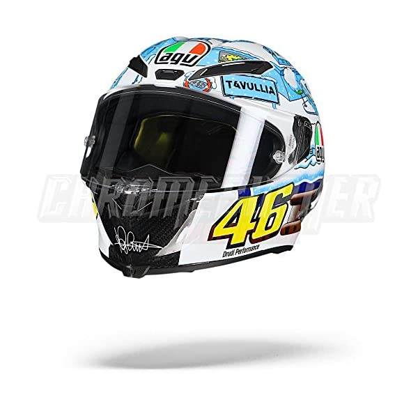 AGV Pista GP R Winter Test 2017 Tavullia Limited Edition Helmet, GP-R 515XRakBiBL