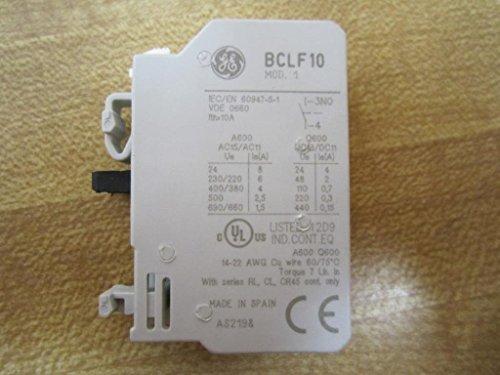 GE BCLF10 Auxiliary Contact Block Screw Terminal