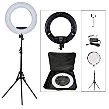 "Yidoblo 96W 18"" 480 LED Ring Lights Kit with Makeup Mirror,Light Stand,Camera Phone Holder and Carrying Bag,Dimmable Bi-color Lighting for Photo Studio Video Portrait Film Selfie Youtube Photography"