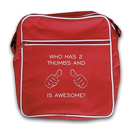Retro Red Who Flight Awesome And 2 Thumbs Dressdown Bag Is Has R8AdWvqqw0