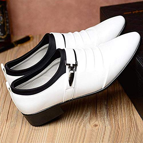 Boomboom New British Style Leather Pointed Toe Formal Wedding Men's Shoes Black US 11 (For Men Wedding Shoes)