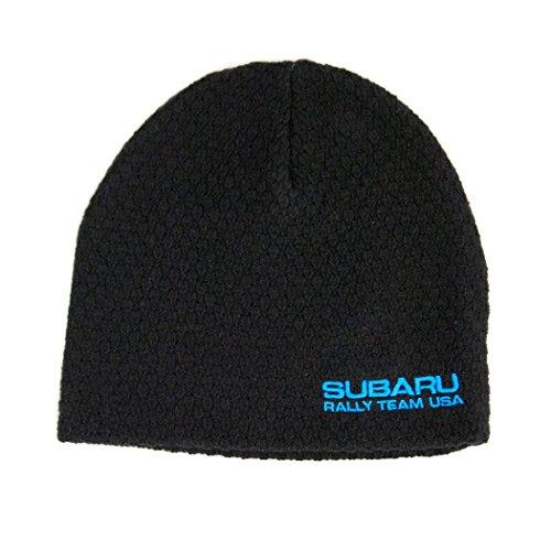 SUBARU Genuine RallyTeam USA Texture Knit Beanie Cap Hat WRX Sti Racing Impreza Black ()
