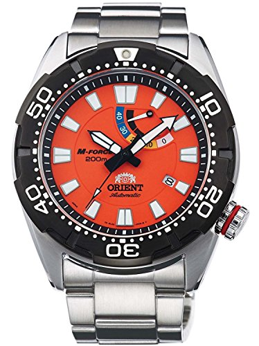 ORIENT watch M-FORCE Em Force 200m waterproof REVIVAL Orange WV0201EL Men for scuba diving