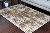 RUSTIC Collection Antique Style Wool Exposed Cotton Jute Oriental Carpet Area Rug Rugs Charcol Rust Beige 7005 8×11 8×10 7'10×10'2 Review