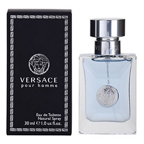 Pour Homme Natural Spray - Versace Pour Homme Eau De Toilette Natural Spray, 3.4 Fl Oz
