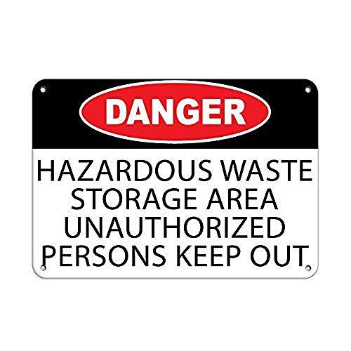 危険有害廃棄物保管エリア 金属板ブリキ看板警告サイン注意サイン表示パネル情報サイン金属安全サイン