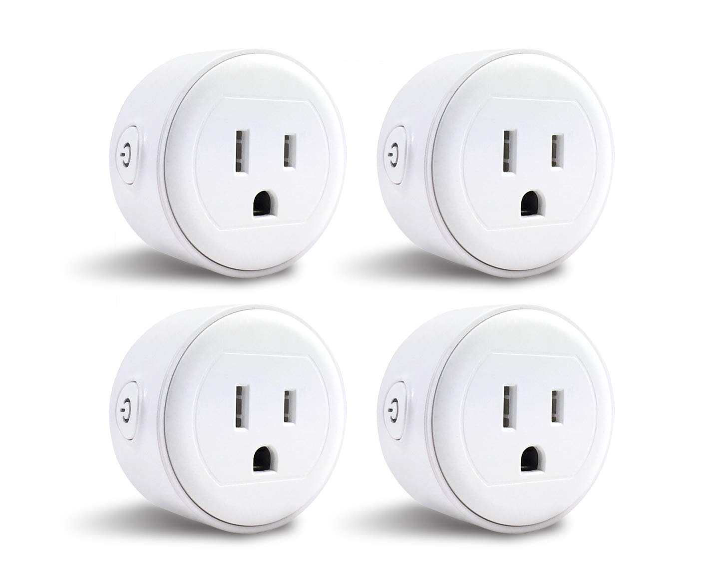 GoldenDot WiFi Mini Plug, Smart Home Power Control Socket, Wireless Control Your Household Appliance from Anywhere, No Hub Required, Compatible with Amazon Alexa and Google Home (4Pack)