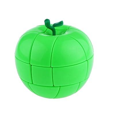 3x3 Jouent D'enfant Puzzle Cube Magique Jouent Éducatif Casse-têtes Cadeau Pour Enfant Créatif Amusant Loisir- 2 Couleur - Vert